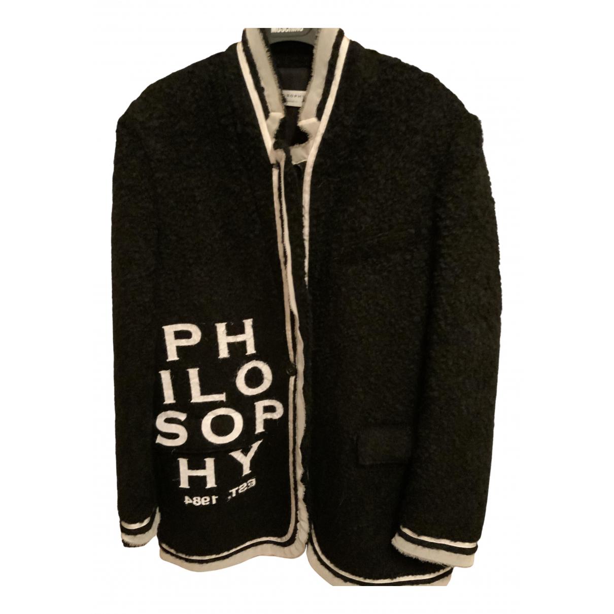Philosophy Di Lorenzo Serafini N Black coat for Women 44 IT