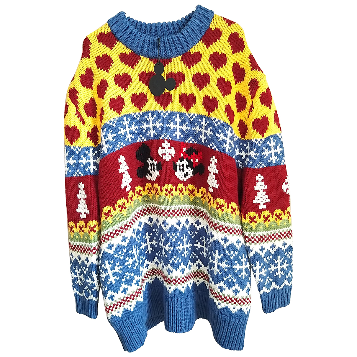 Zara - Pull   pour femme en laine - bleu