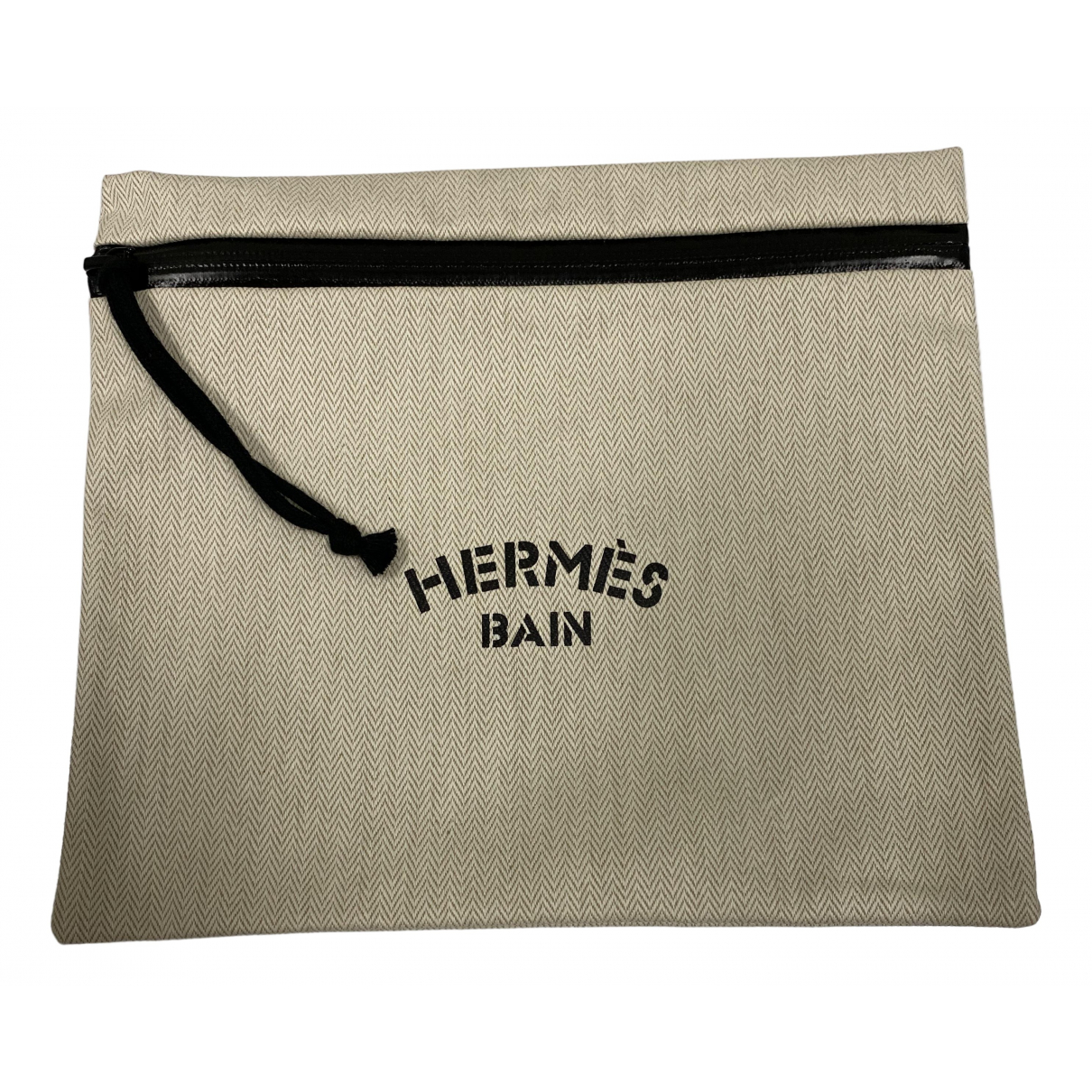 Hermès N Beige Cloth Clutch bag for Women N