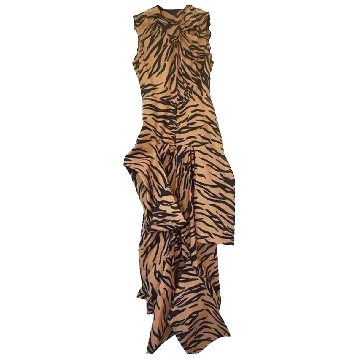Celine \N Kleid in  Bunt Baumwolle