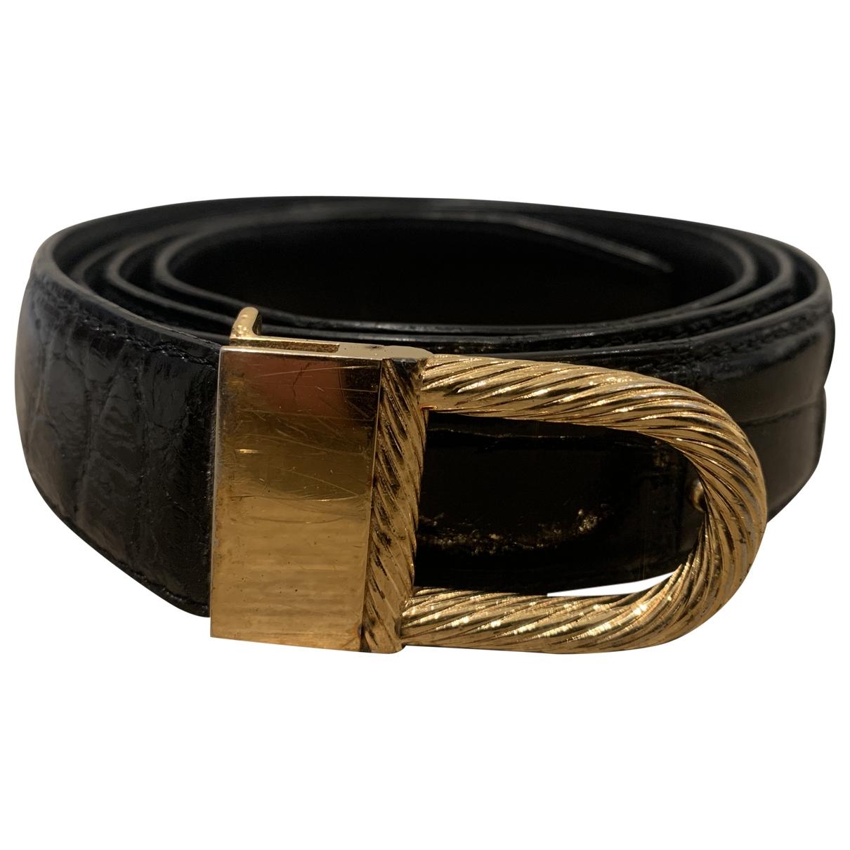 Zilli \N Black Leather belt for Men 100 cm