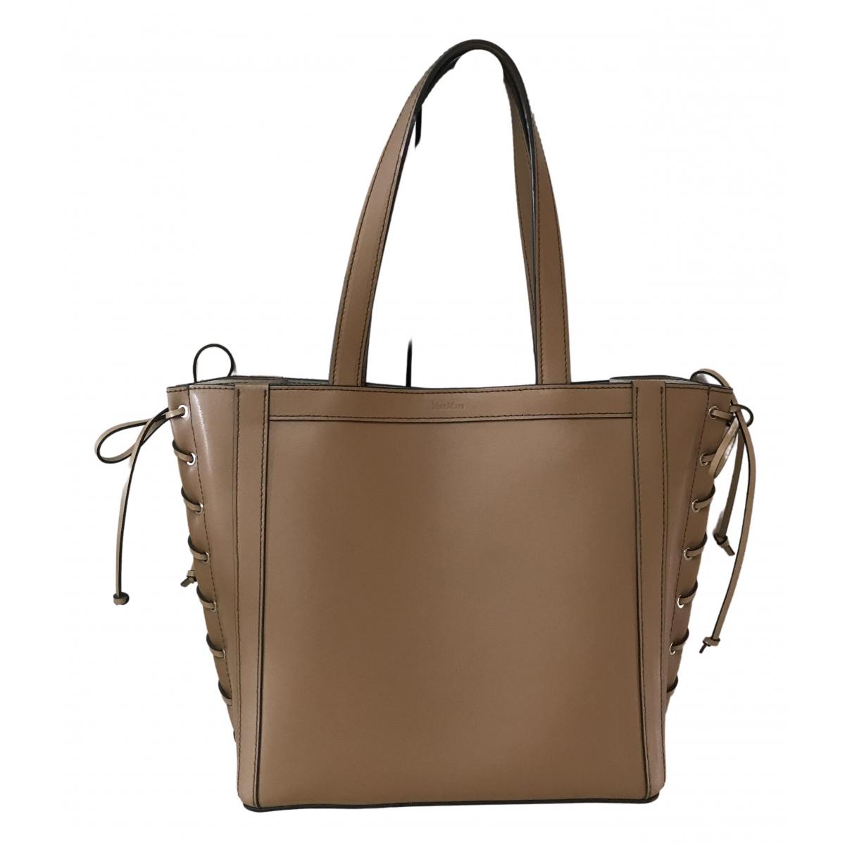 Max Mara N Camel Leather handbag for Women N