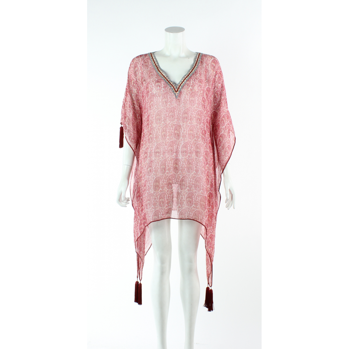 Talitha - Robe   pour femme en soie - rouge