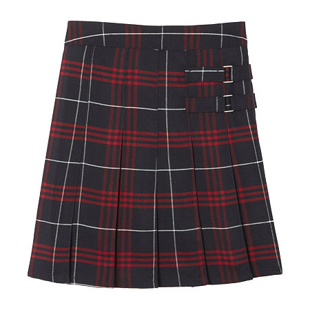 French Toast Plaid Little & Big Girls Scooter Skirt, 20 , Blue