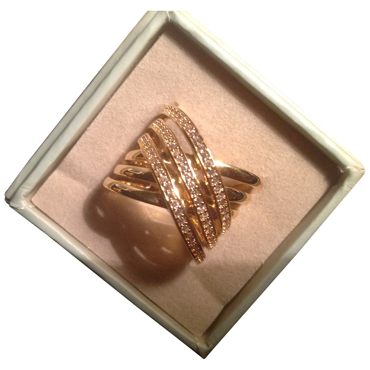 Non Signe / Unsigned \N Ring Gold