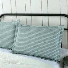 1 par funda de almohada con patron de rayas sin relleno