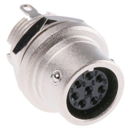 Hirose Connector, 8 contacts Panel Mount Miniature Socket, Solder