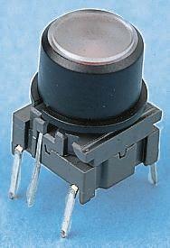 MEC Single Pole Single Throw (SPST) Black Keyboard Switch, 50 mA @ 24 V dc, -40 → +160°C