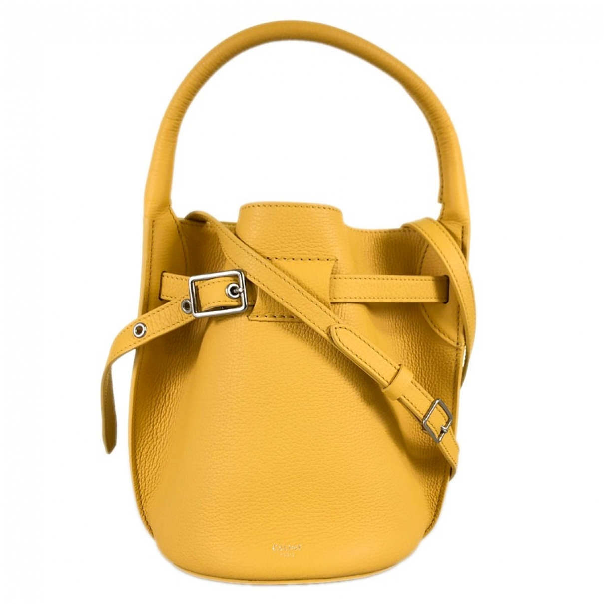 Celine \N Yellow Leather handbag for Women \N