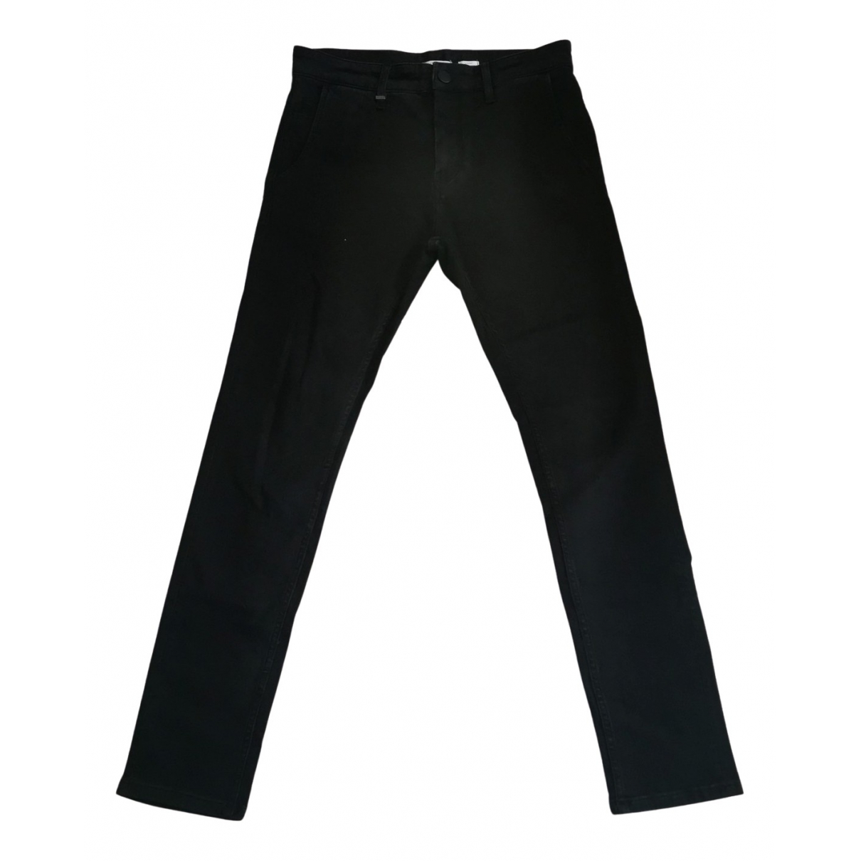 Ikks N Black Cotton Trousers for Men 28 UK - US