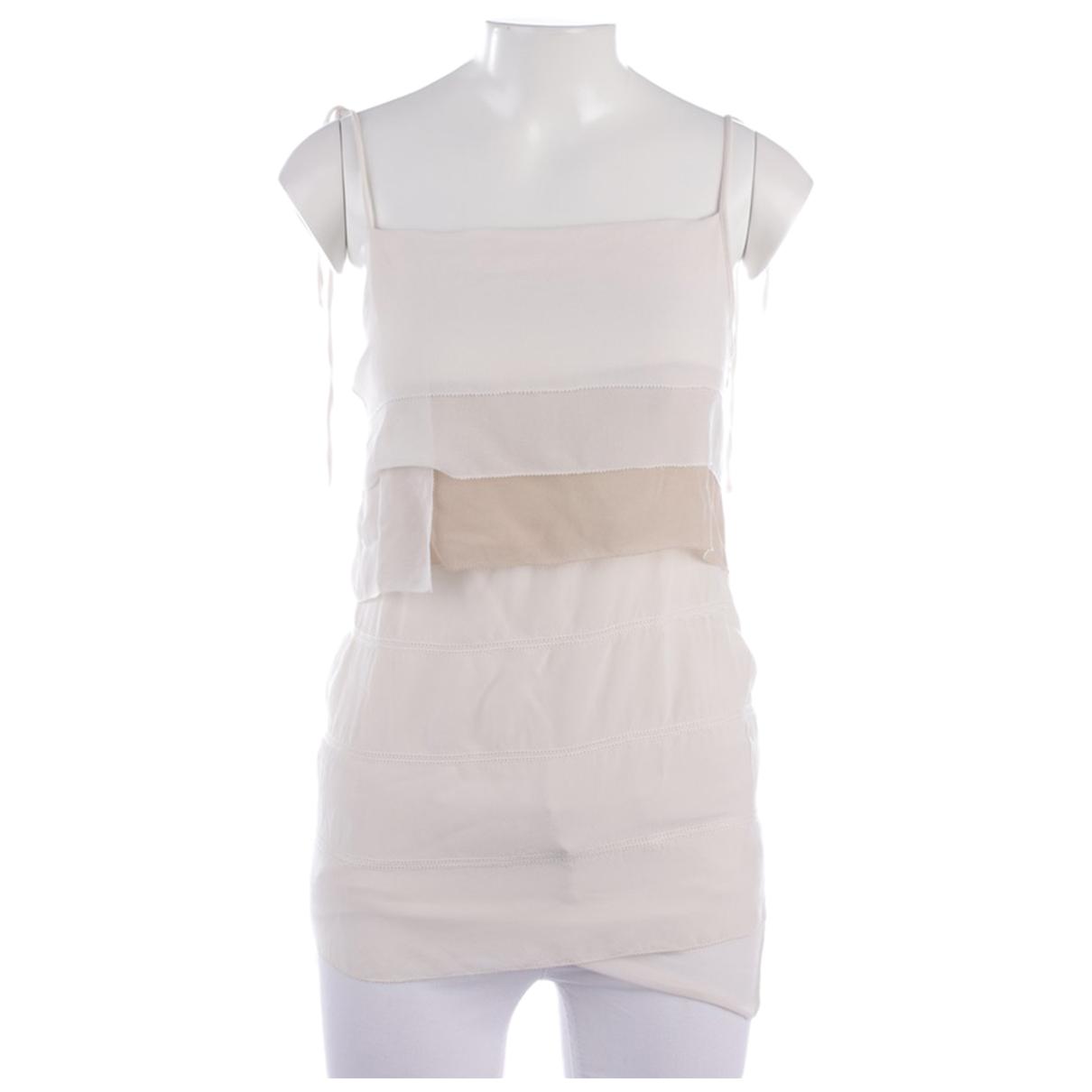 Schumacher - Top   pour femme en soie - blanc