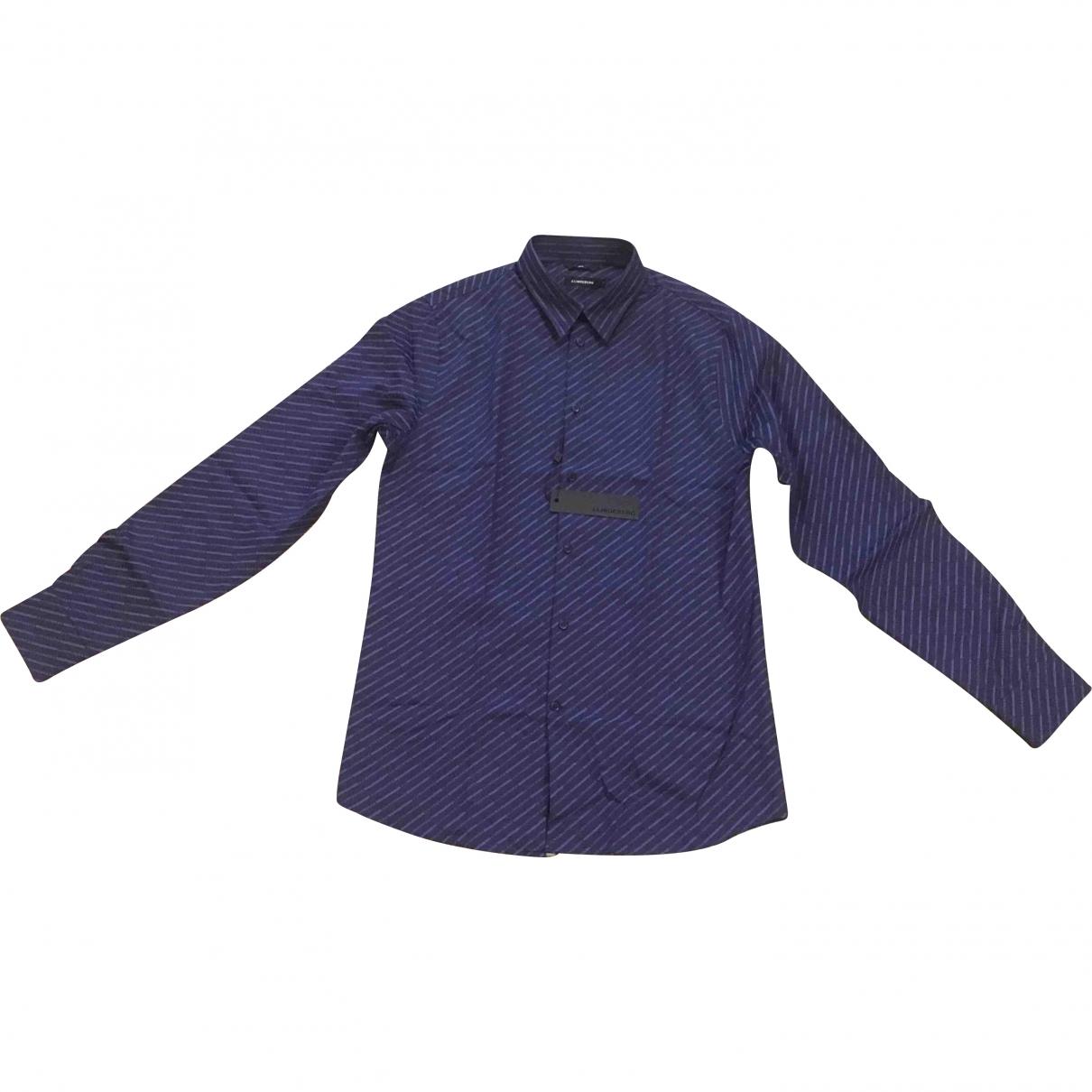 J.lindeberg - Chemises   pour homme en coton - marine