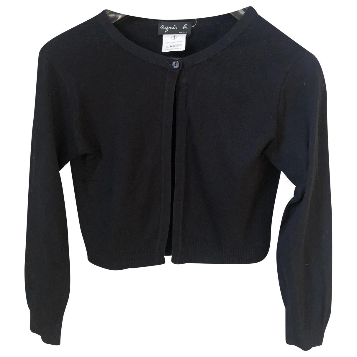 Agnès B. \N Black Wool  top for Women 36 FR
