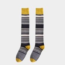 1pair Stripe Knee High Socks