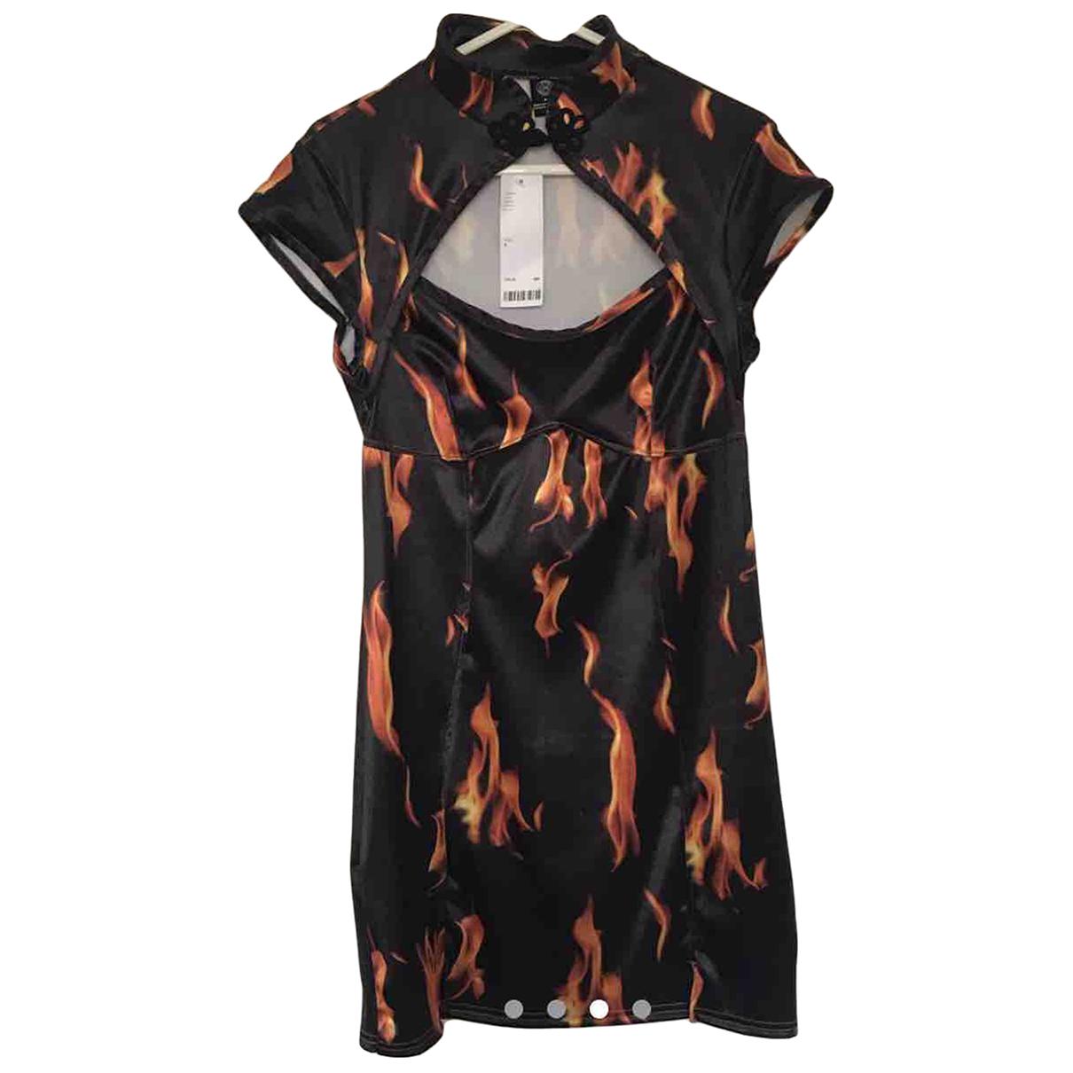 Urban Outfitters \N Kleid in  Schwarz Polyester