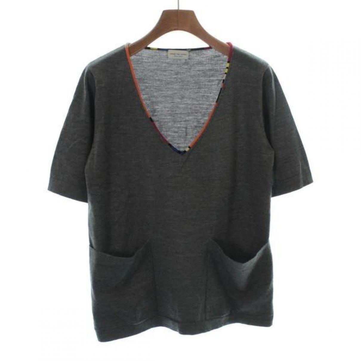 Dries Van Noten - Pull   pour femme en laine - gris