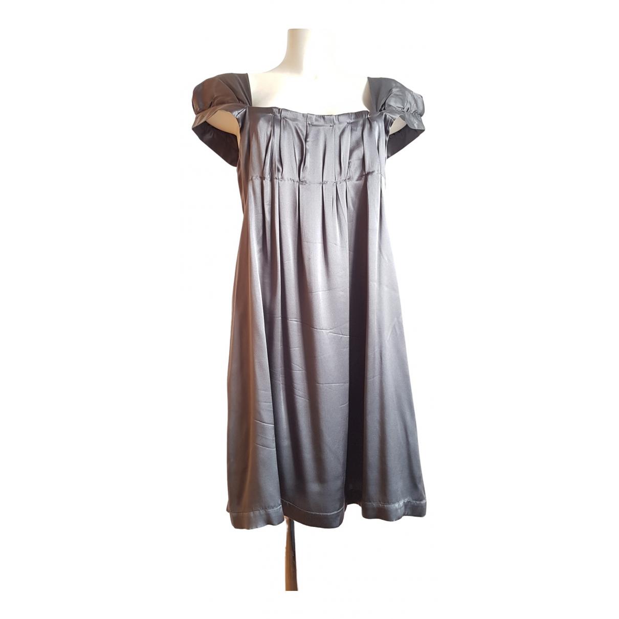 Miu Miu - Robe   pour femme en soie - gris