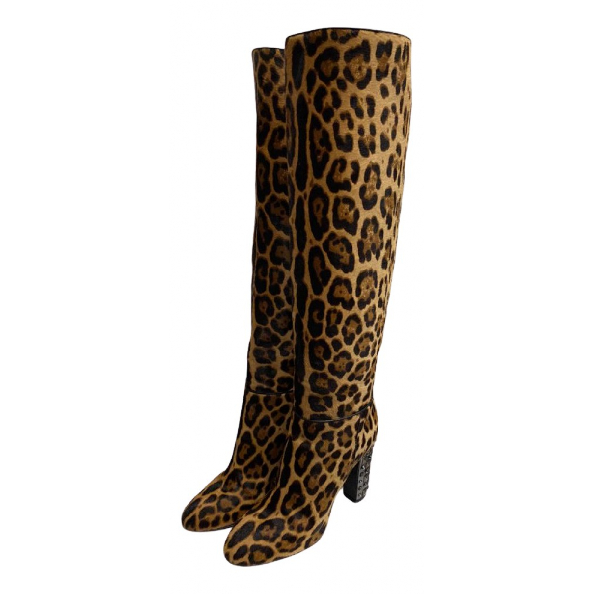 Dolce & Gabbana N Multicolour Pony-style calfskin Boots for Women 37.5 EU