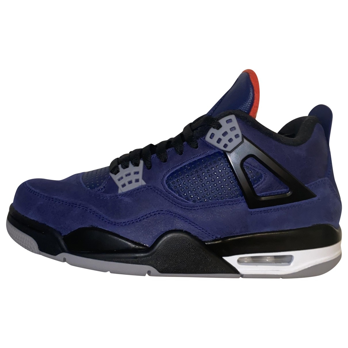 Jordan Air Jordan 4 Sneakers in  Blau Leder