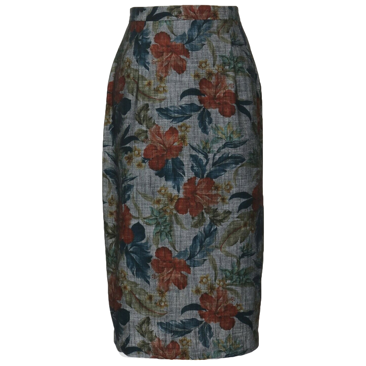 Non Signé / Unsigned \N Grey Cotton skirt for Women M International