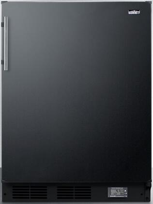 BKRF663B 24 Break Room Refrigerator-Freezer with 5.1 cu. ft. Capacity  NIST Calibrated Temperature Display  Cycle Defrost and Adjustable Glass