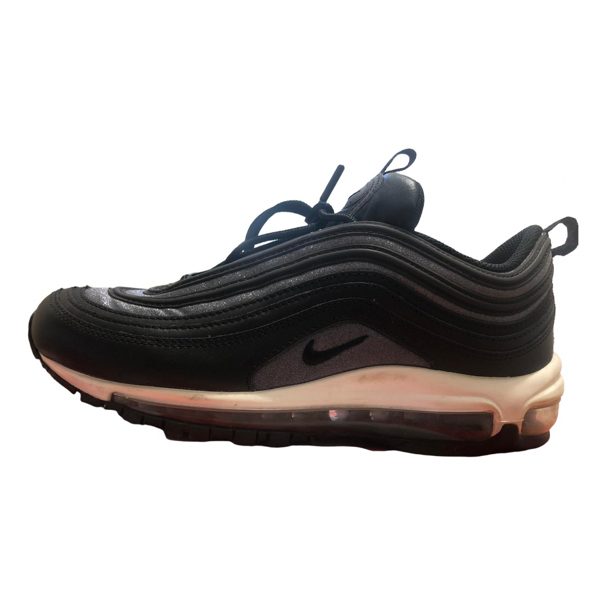 Nike Air Max 97 Black Leather Trainers for Women 8.5 US