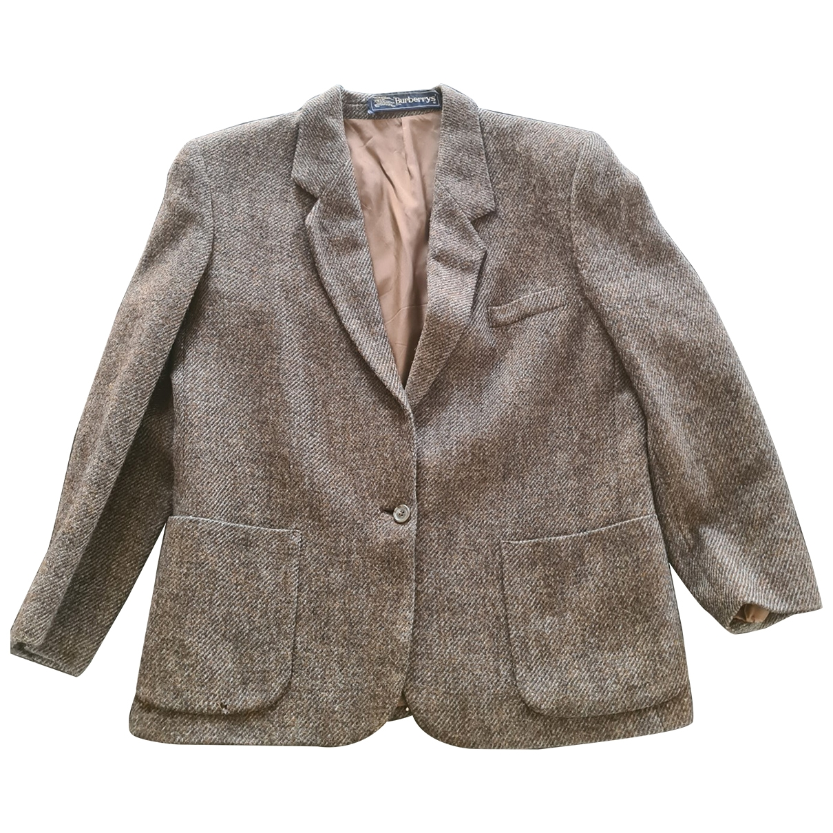 Burberry \N Brown Wool jacket for Women 40 FR