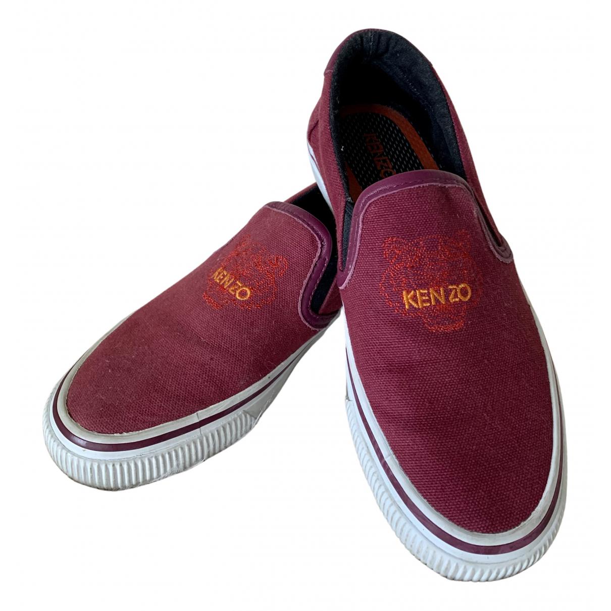 Kenzo \N Sneakers in  Bordeauxrot Leinen