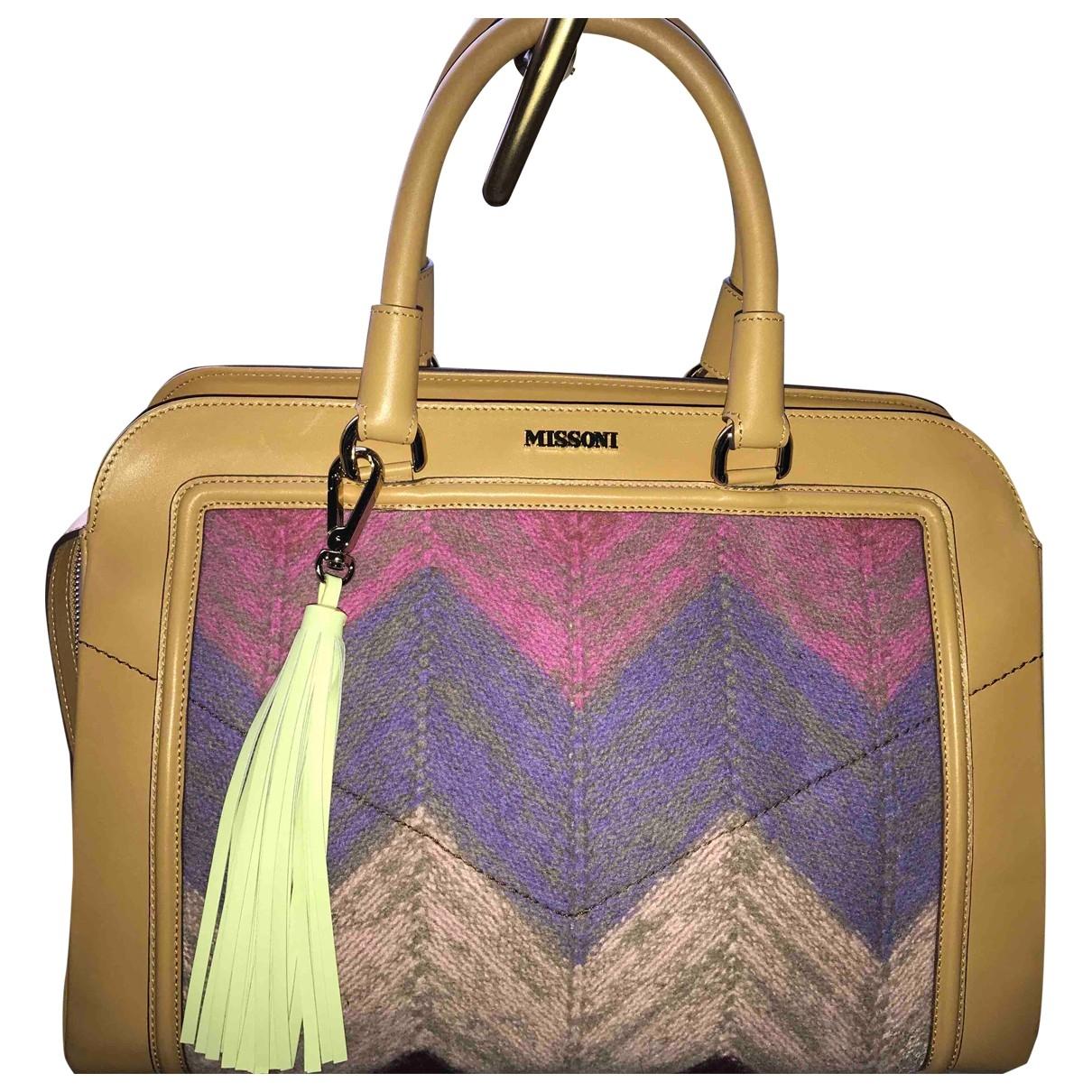 Missoni \N Handtasche in  Beige Leder