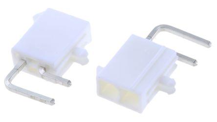Molex , Mini-Fit Jr, 5569, 2 Way, 2 Row, Right Angle PCB Header (5)