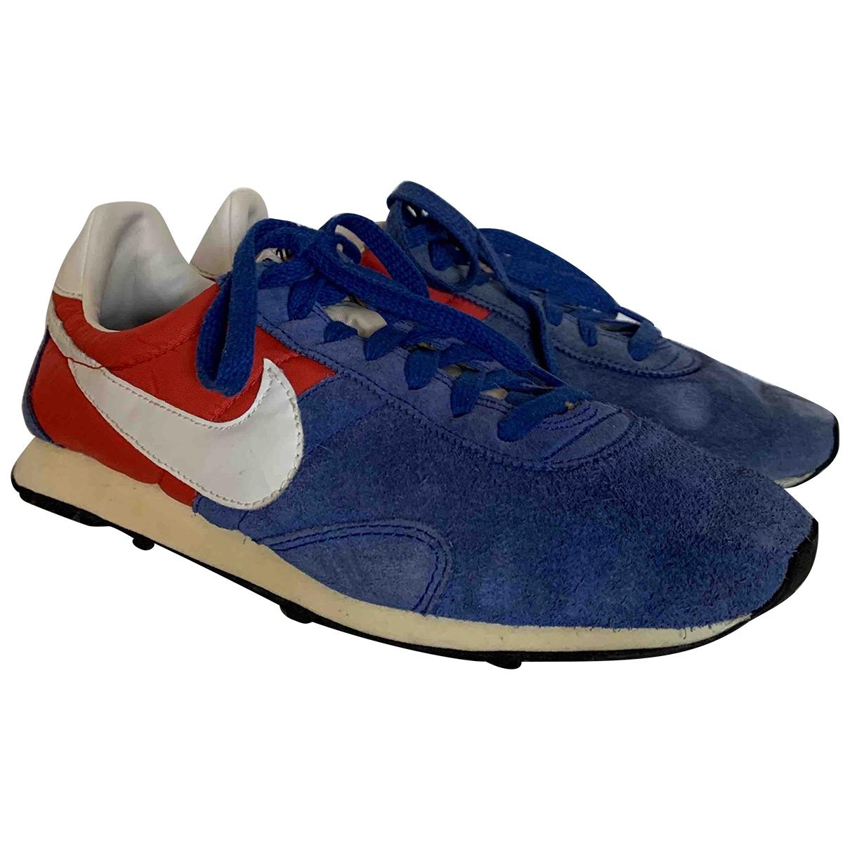 Nike - Baskets   pour femme en suede - bleu