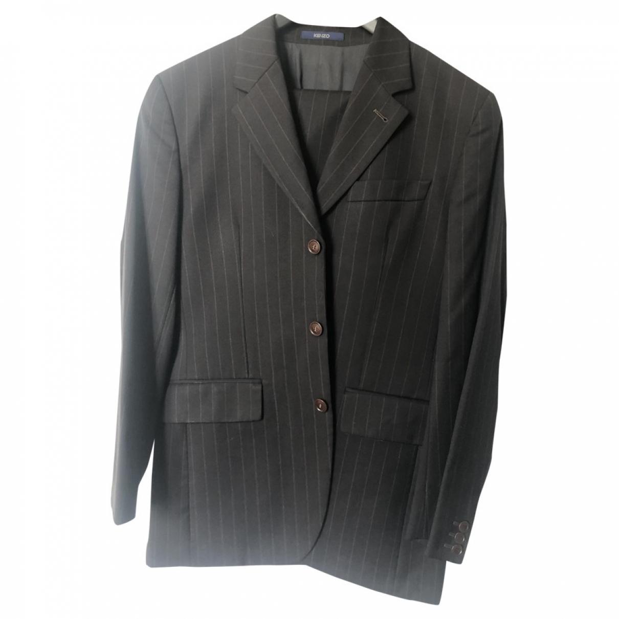 Kenzo - Costumes   pour homme en laine - marron