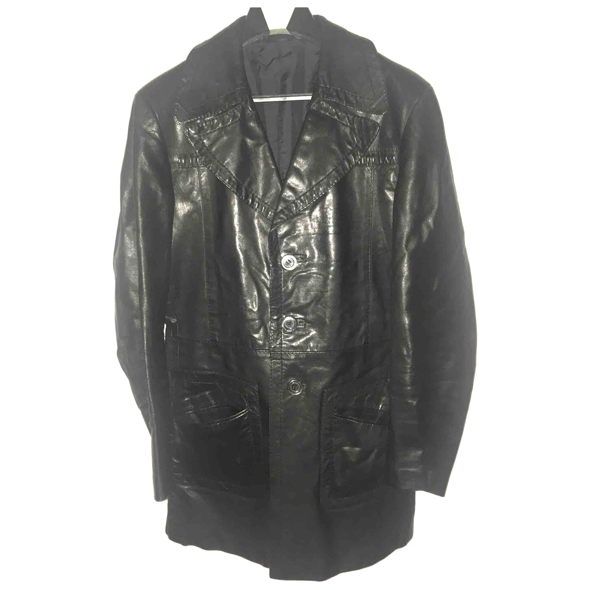 Linea Pelle \N Black Leather jacket  for Men 50 IT