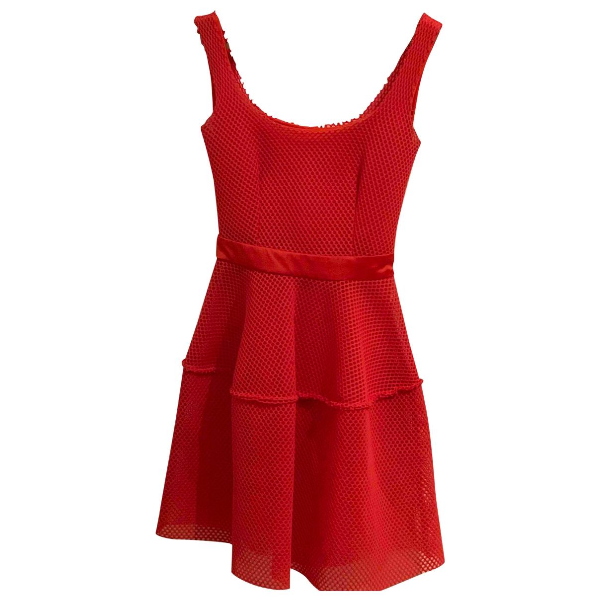 Maje \N Kleid in  Orange Baumwolle