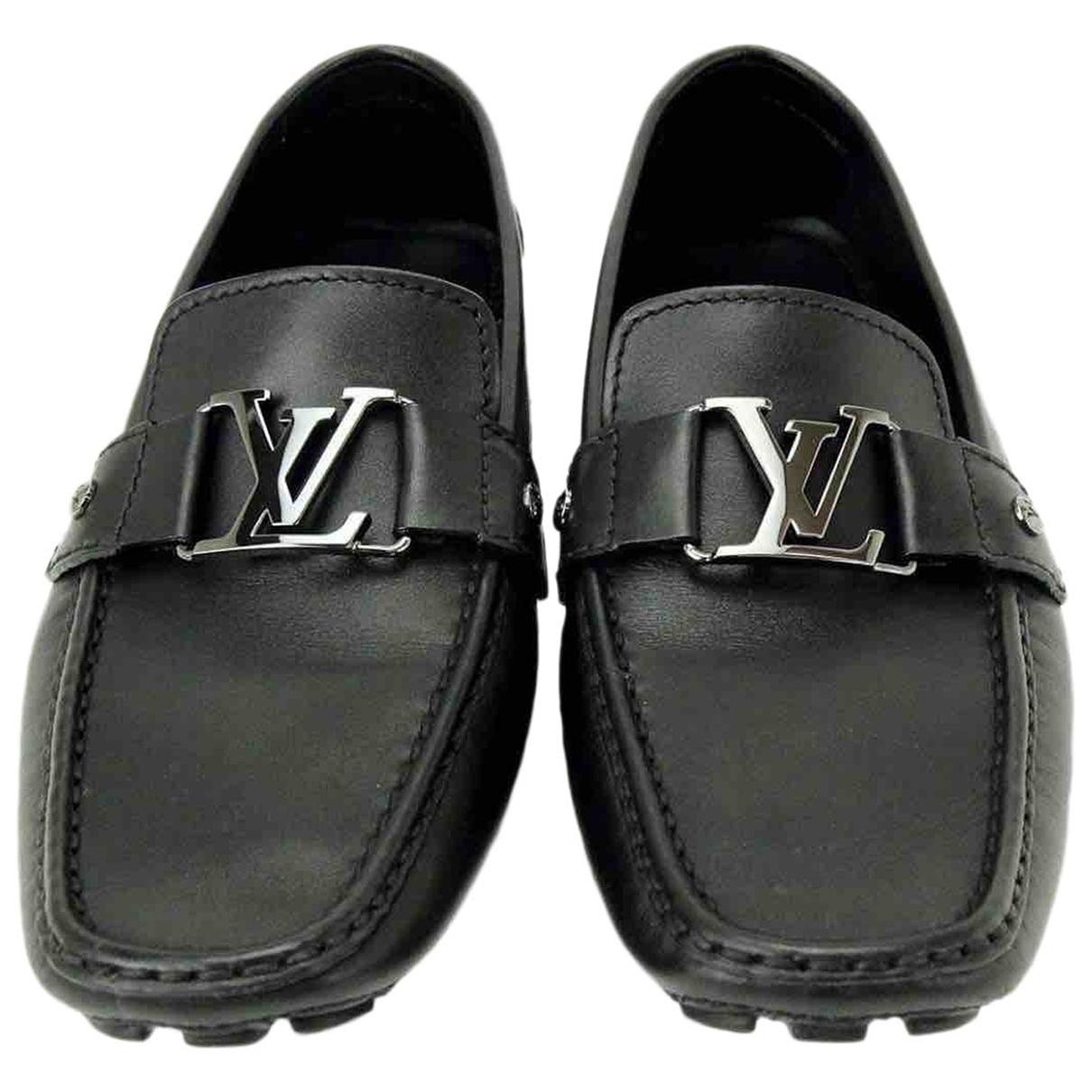 Louis Vuitton Monte Carlo Mokassins in  Schwarz Leder