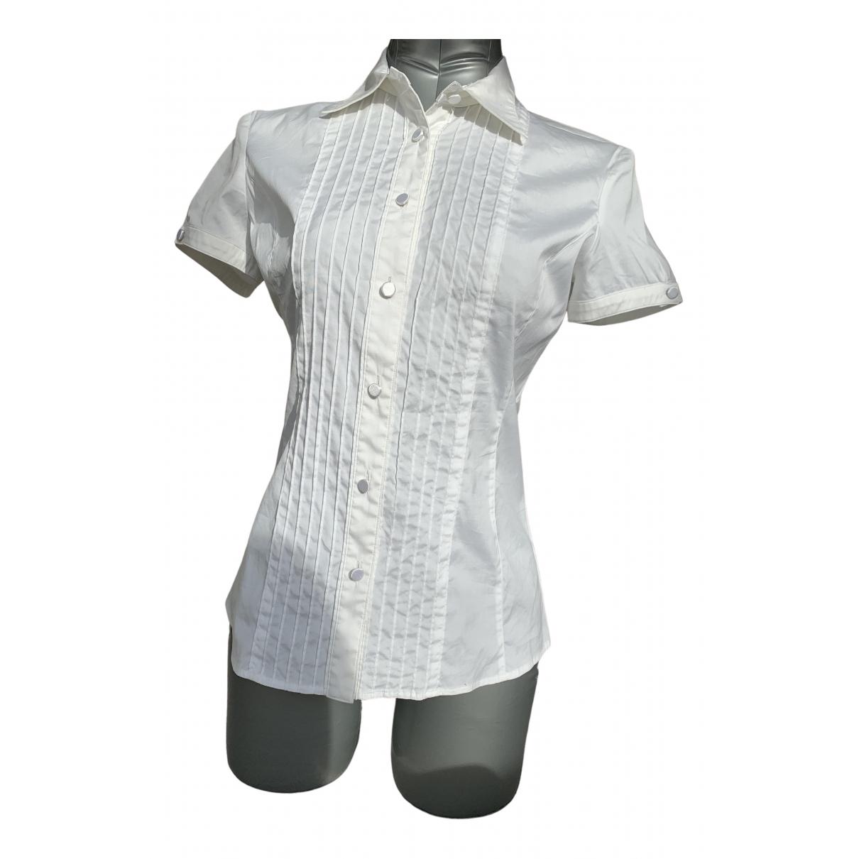 Emporio Armani N White Cotton  top for Women 42 IT