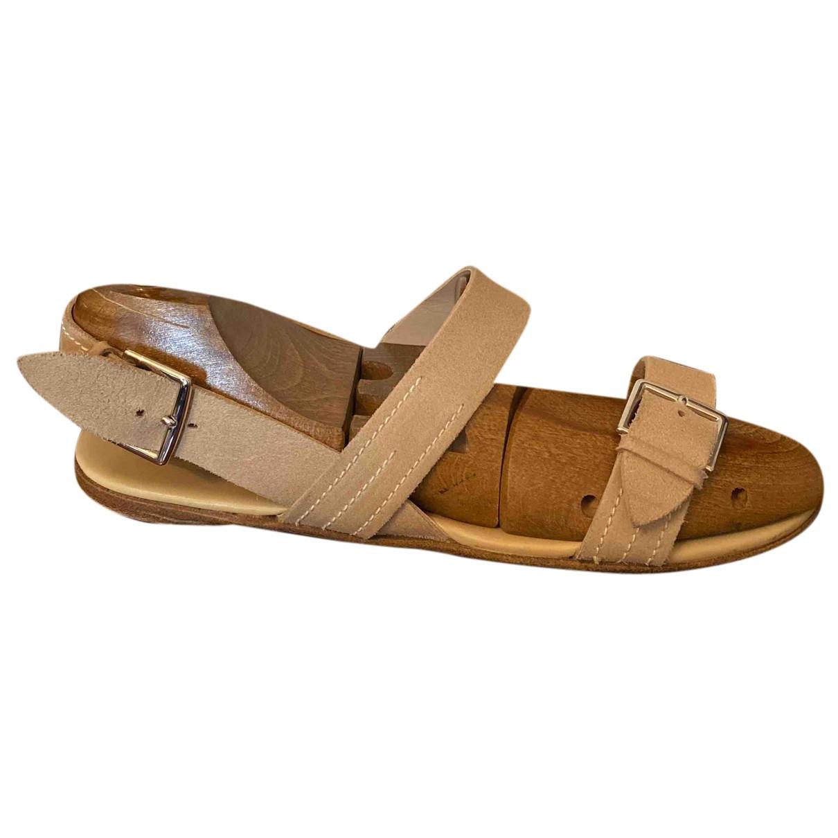 Hermes - Sandales   pour homme en suede - beige