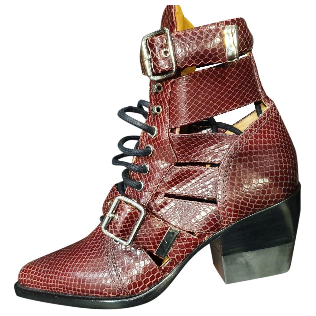 Chloe - Boots Rylee pour femme en cuir