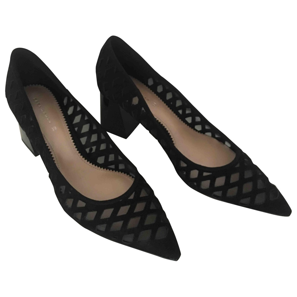 Zara \N Black Velvet Heels for Women 39 EU