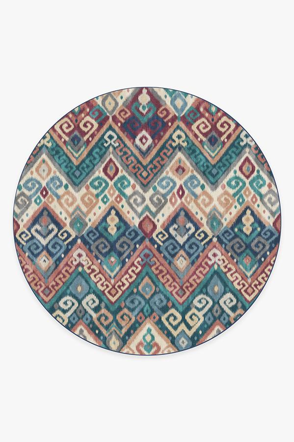 Washable Rug Cover | Orissa Sapphire Rug | Stain-Resistant | Ruggable | 8' Round