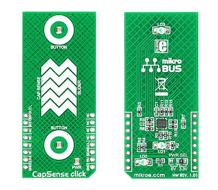 MikroElektronika , Capsense Click Capacitive Touch Sensor mikroBus Click Board, CY8C20IA0 - MIKROE-1446