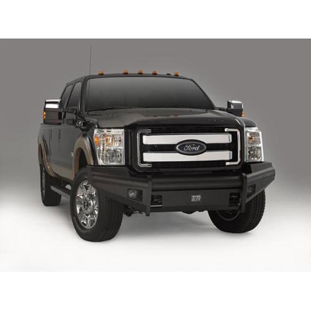 Fab Fours FS11-Q2561-1 11-16 Ford Super Duty Front Elite Ranch Bumper w/No Guard (F250 - F550) w/Tow Hooks Bare