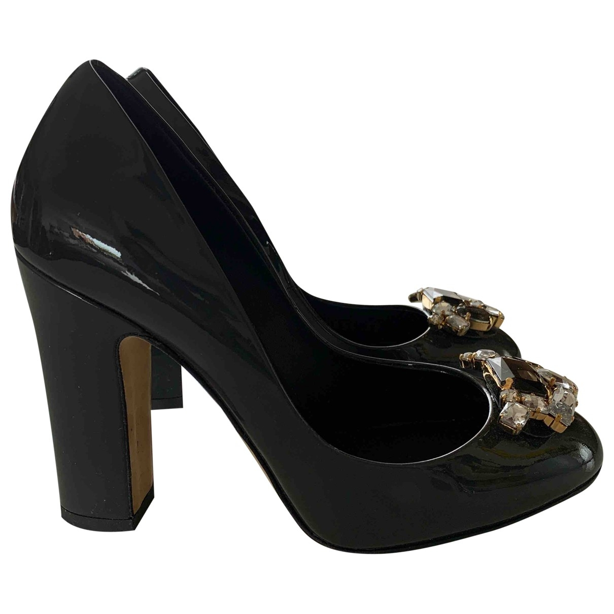 Dolce & Gabbana \N Pumps in  Grau Lackleder