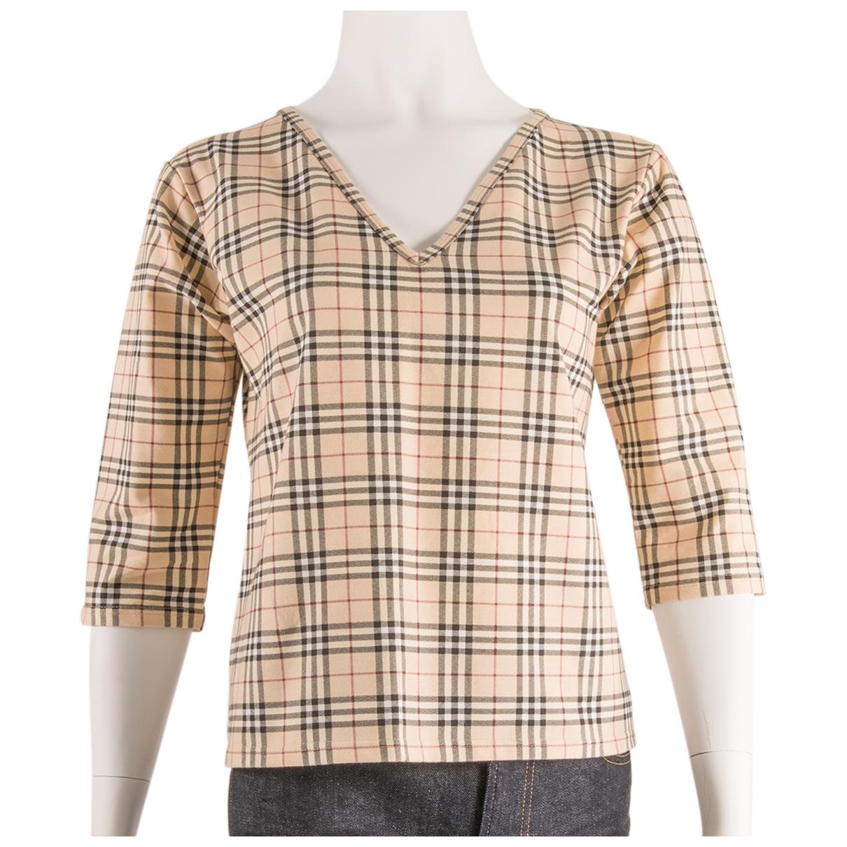 Burberry \N Beige Cotton  top for Women L International