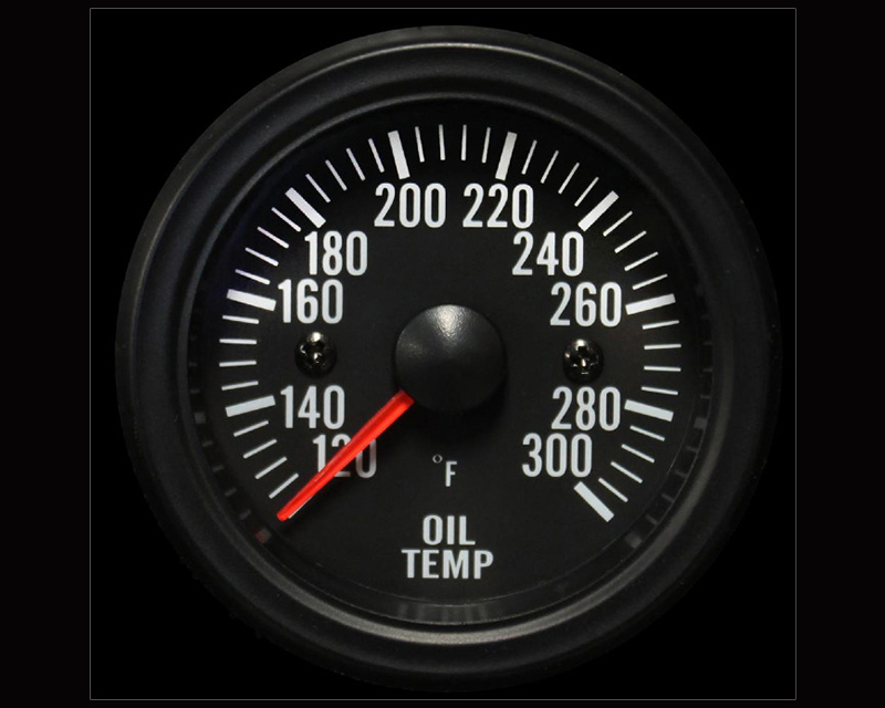 Prosport Performance Electrical Oil Temp Gauge 52mm Clear Lens with Sender White Led