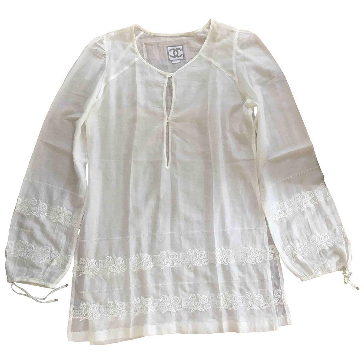 Chanel \N White Cotton dress for Women 46 FR