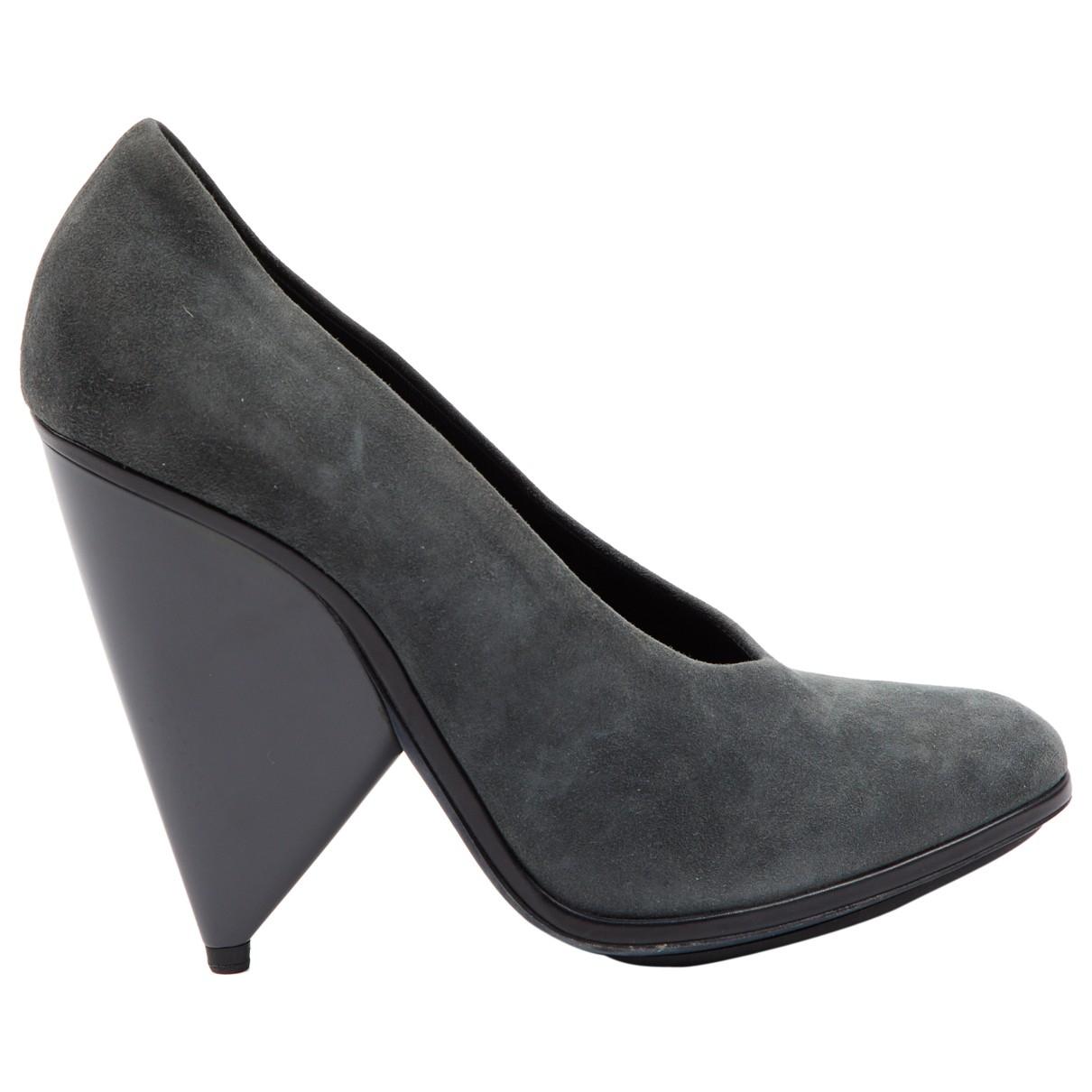 Balenciaga - Escarpins   pour femme en suede - gris