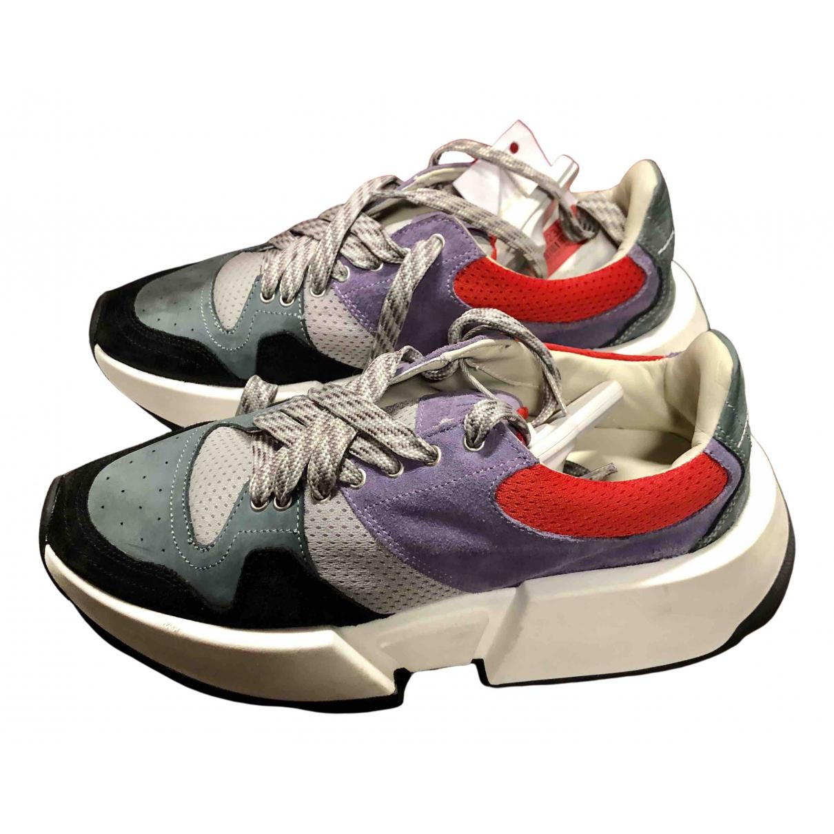 Mm6 N Purple Suede Trainers for Women 38 EU