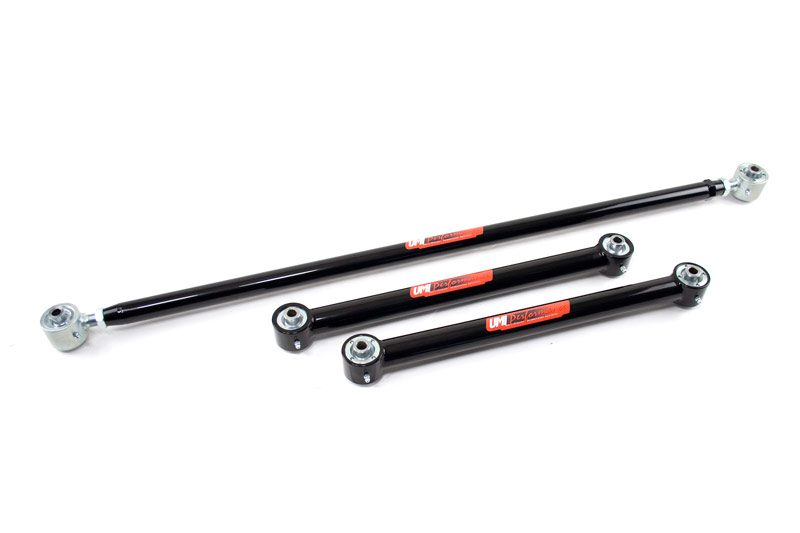 UMI Performance 203438-B 1982-2002 F-Body Non Adj. Lower Control Arms, Panhard Bar w/ Roto-Joints Rear