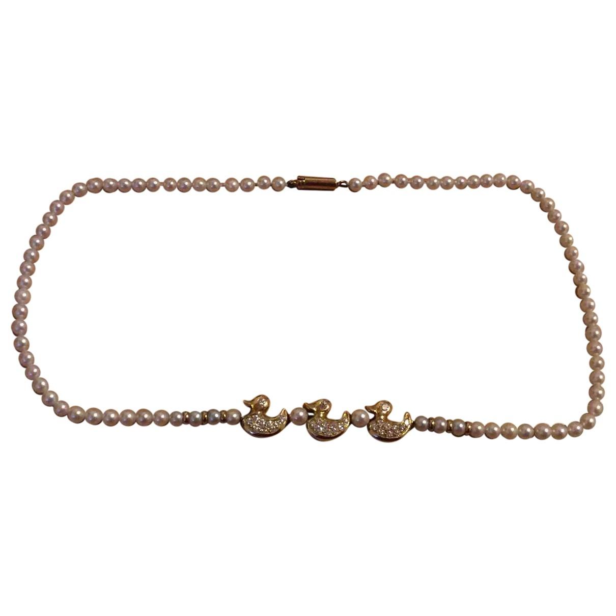 Fred \N Kette in  Gold Perlen